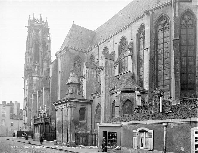 Eglise Saint-Martin Façade sud, en perspective vers l'ouest, Neurdein (frères) ; Neurdein, Louis ; Neurdein, Louis (photographe),