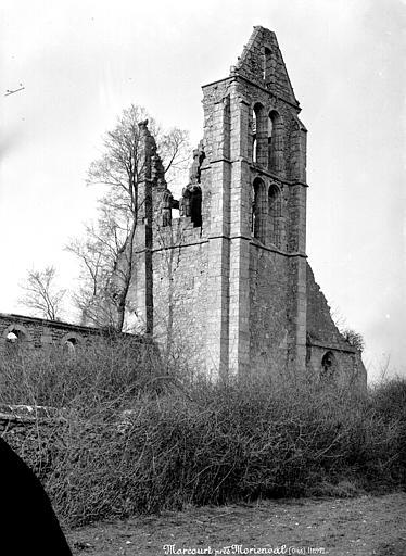 Eglise de Morcourt (ruines) Clocher, Mieusement, Médéric (photographe),