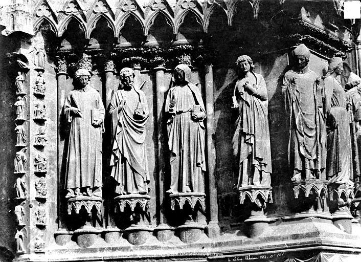 Cathédrale Notre-Dame Portail nord de la façade ouest : ébrasement droit, Le Secq, Henri (photographe),