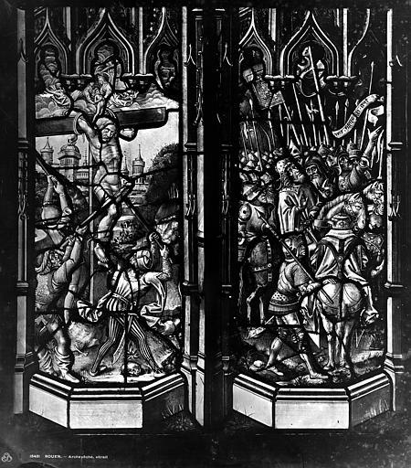 Archevêché Vitrail, Le Bon larron, Leprévost (photographe),