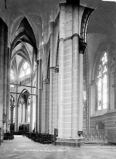 Cathédrale Saint-Pierre Vue intérieure du bas-côté sud du choeur, Mieusement, Médéric (photographe),