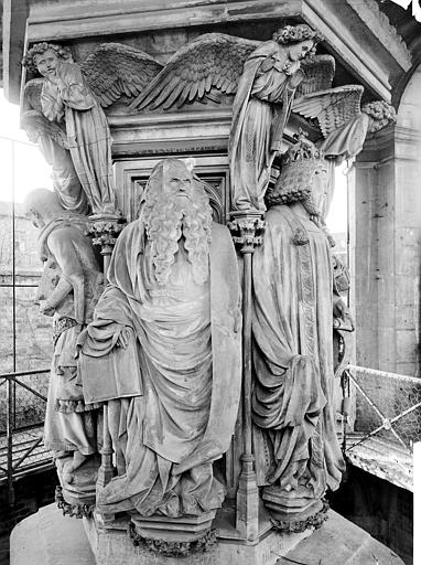 Chartreuse de Champmol (ancienne) Puits de Moïse : Moïse et David, Delaunay (photographe),
