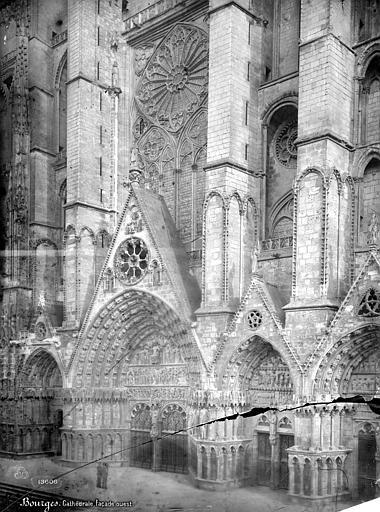 Cathédrale Saint-Etienne Façade ouest : partie centrale, Mieusement, Médéric (photographe),
