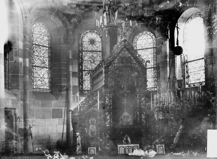 Eglise Notre-Dame Choeur, fenêtre, Durand, Georges (photographe à Amiens),