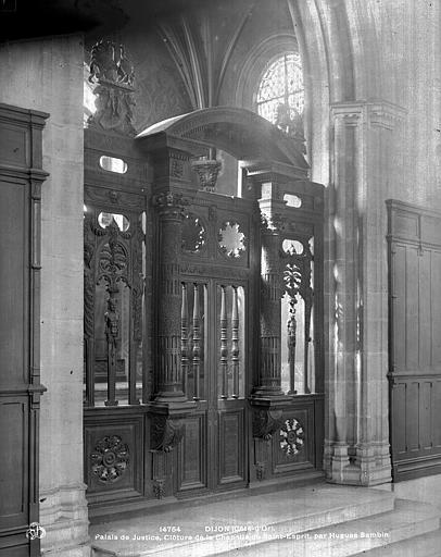 Palais de Justice Clôture de la chapelle du Saint-Esprit, Neurdein (frères) ; Neurdein, Louis ; Neurdein, Louis (photographe),