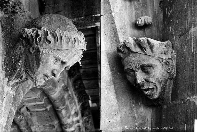 Cathédrale Notre-Dame Transept sud : détail de figures sculptées, Mieusement, Médéric (photographe),