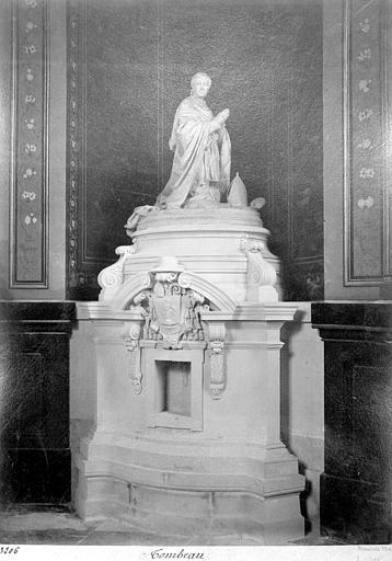 Cathédrale Saint-Louis Tombeau : statue de l'évêque Laudriot, Mieusement, Médéric (photographe),