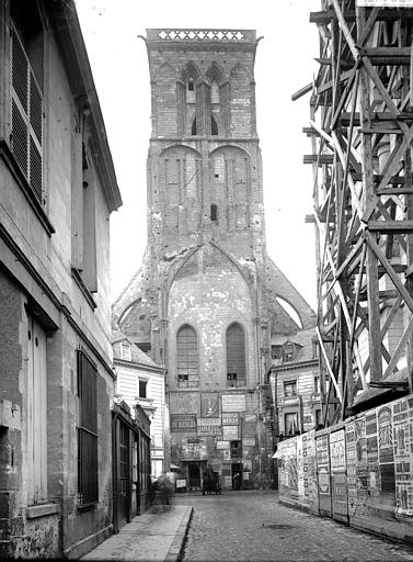 Eglise Façade, clocher, Enlart, Camille (historien),
