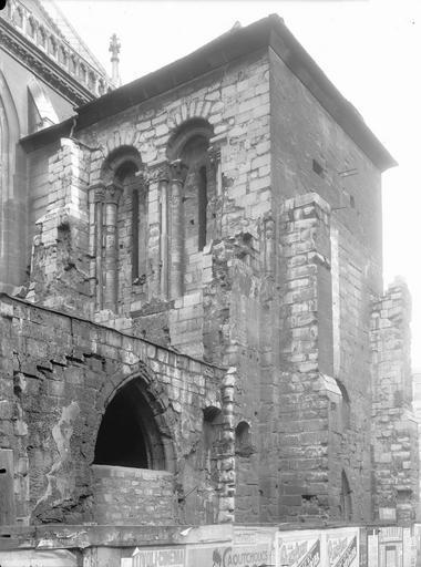Abbaye Saint-Martin-des-Champs (ancienne)/Eglise Saint-Martin-des-Champs Clocher, partie supérieure, à l'ouest, Durand, Eugène (photographe),