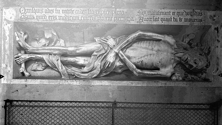 Eglise Saint-Gervais-Saint-Protais Monument funéraire : transi, Gossin (photographe),