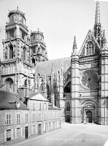 Cathédrale Sainte-Croix Façade sud : clocher et transept, Mieusement, Médéric (photographe),