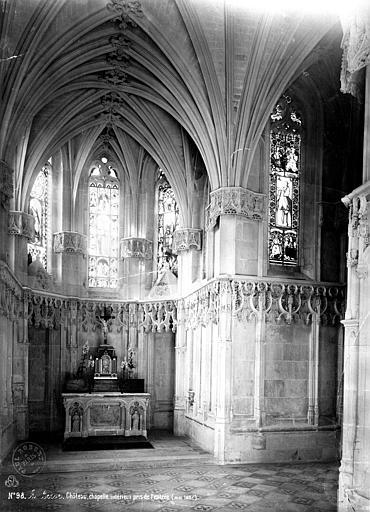 Château Chapelle : intérieur, côté du choeur, Mieusement, Médéric (photographe),