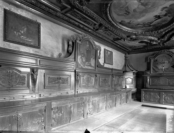 Collège de Poitiers (ancien), actuellement lycée Henri IV Sacristie de la chapelle, boiseries, Gossin (photographe),