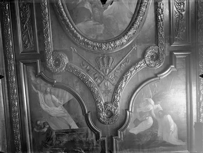 Collège de Poitiers (ancien), actuellement lycée Henri IV Sacristie de la chapelle, plafond, Gossin (photographe),