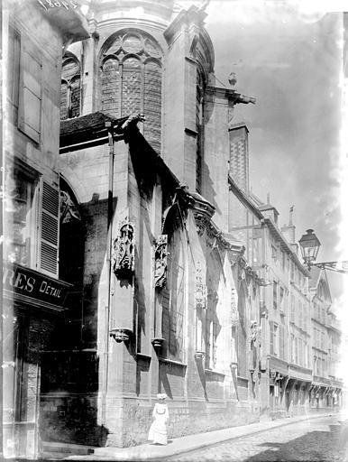 Eglise Saint-Pantaléon Façade latérale, Enlart, Camille (historien),