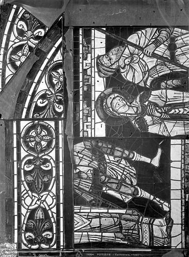 Cathédrale Saint-Pierre Vitrail, baie B : figure et ornementation, Leprévost (photographe),