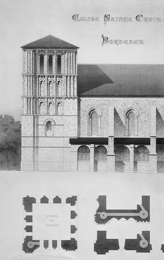 Eglise Sainte-Croix Relevé, Magne, Louis,