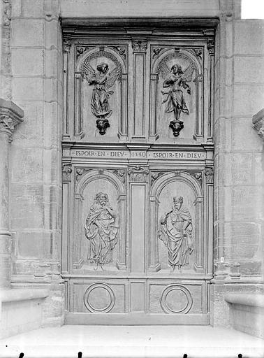 Eglise Saint-Michel Portail nord de la façade ouest : Porte à vantaux, Gossin (photographe),