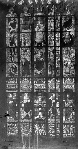 Eglise Saint-Godard Vitrail : Arbre de Jessé, Leprévost (photographe),