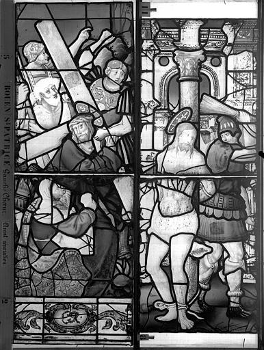 Eglise Saint-Patrice Vitrail, fenêtre gauche, dixième panneau, Heuzé, Henri (photographe),