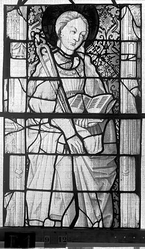Eglise Saint-Maclou Vitrail, chapelle des Quatre Confessionnaux, neuvième panneau, Heuzé, Henri (photographe),