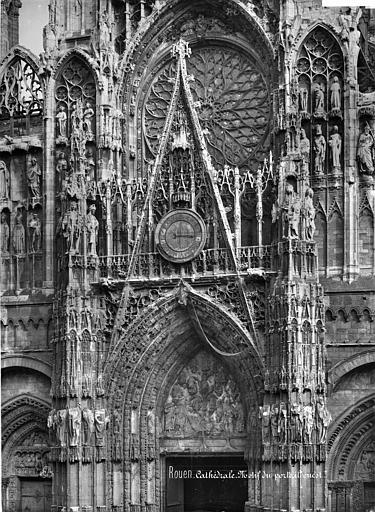 Cathédrale Notre-Dame Façade ouest : partie supérieure du portail central, Mieusement, Médéric (photographe),