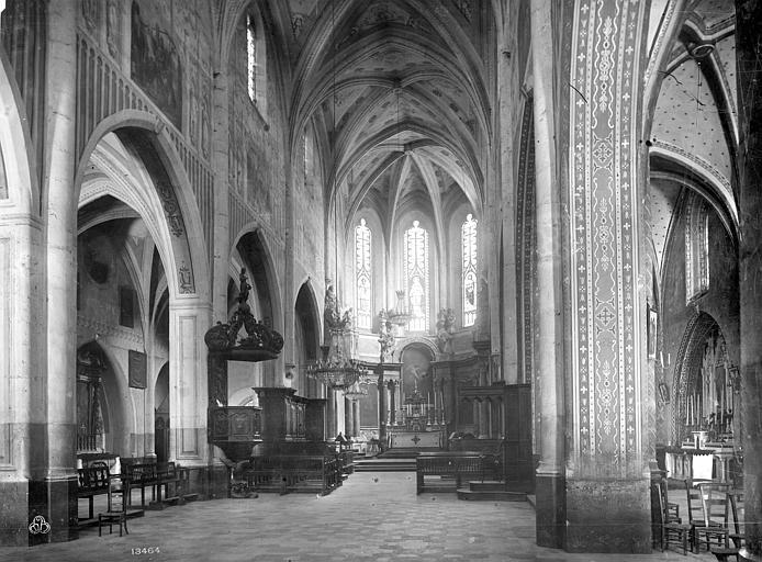 Cathédrale Saint-Pierre Vue intérieure de la nef et du choeur, Mieusement, Médéric (photographe),