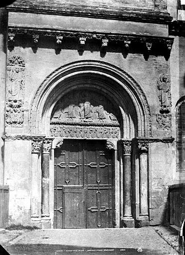 Eglise Saint-Sernin Porte Miègeville (façade sud), Le Gray, Gustave ; Mestral, Auguste (photographe),