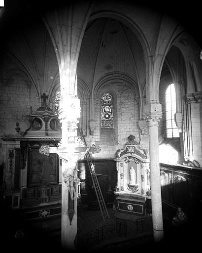 Hôtel-Dieu (ancien hôpital Saint-Jean) Chapelle : Vue intérieure, Berthault (photographe),