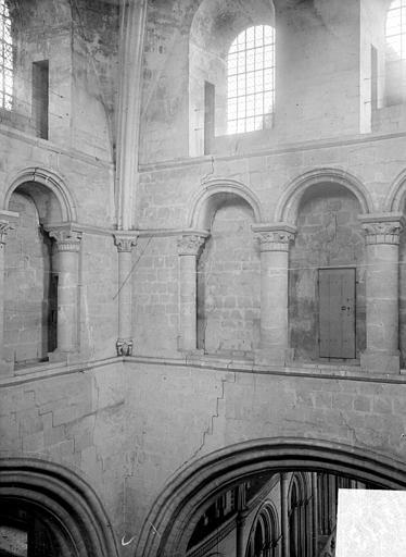 Abbaye aux Hommes (ancienne) ; Eglise abbatiale Saint-Etienne Vue intérieure de la tour lanterne : Partie haute, Heuzé, Henri (photographe),