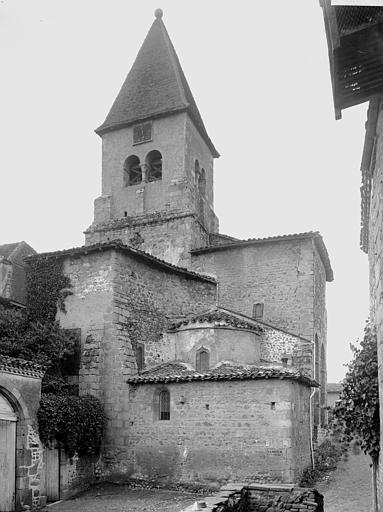 Eglise Saint-Julien Abside et clocher, Enlart, Camille (historien),
