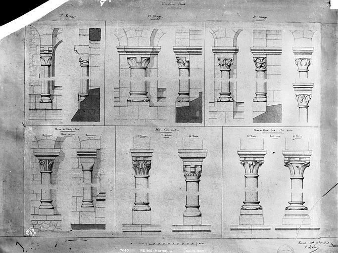 Eglise Saint-Remi Dessin, Durand, Eugène (photographe), 75 ; Paris ; Médiathèque de l'Architecture et du Patrimoine
