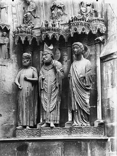 Cathédrale Notre-Dame Portail nord, portail de saint Sixte, ébrasement droit, Lajoie, Abel,