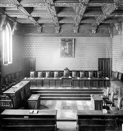 Palais de Justice Chambre Dorée : Vue d'ensemble, Delaunay (photographe),