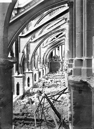 Cathédrale Notre-Dame Façade sud : arcs-boutants et dessus des voûtes du bas-côté, Sainsaulieu, Max (photographe),