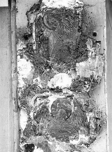 Maison dite de Nicolas Flamel Détail de la façade : Personnage tenant un phylactère, Durand, Jean-Eugène (photographe),