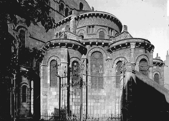 Eglise Notre-Dame-du-Port Abside, au sud, Enlart, Camille (historien),
