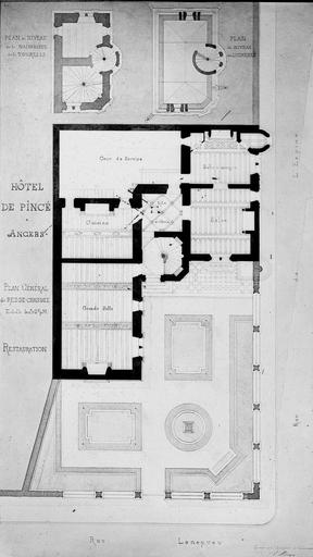 Hôtel Pincé Relevé, escalier, Magne, Louis,