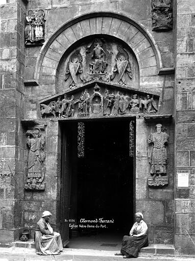 Eglise Notre-Dame-du-Port Petite porte, Durand, Eugène (photographe),
