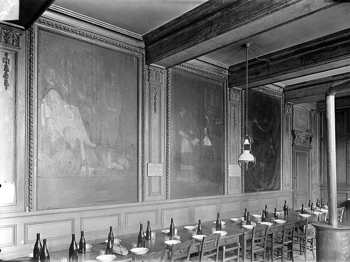 Hôpital général Réfectoire des infirmières : Tableaux (ensemble), Gossin (photographe),