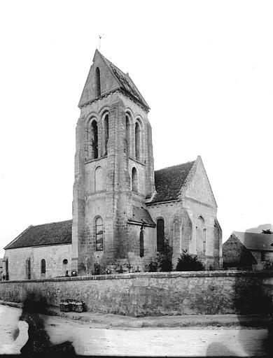 Eglise Ensemble sud-est, clocher, Enlart, Camille (historien),