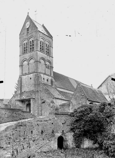 Eglise Clocher, côté sud-ouest, Service photographique,