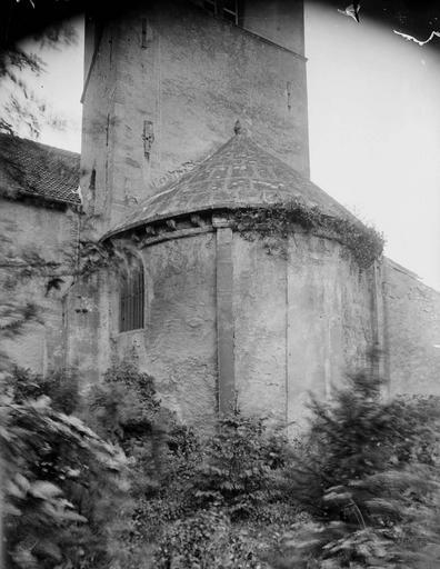 Eglise Sainte-Lucie, à Vallières Abside, Durand, Georges (photographe à Amiens),