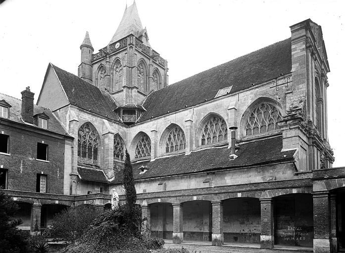 Eglise Saint-Taurin Façade nord, Durand, Eugène (photographe),