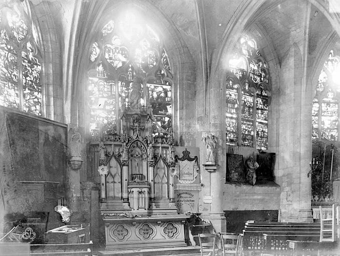 Eglise Saint-Nizier Vitraux, fenêtre F, Lancelot, Gustave,