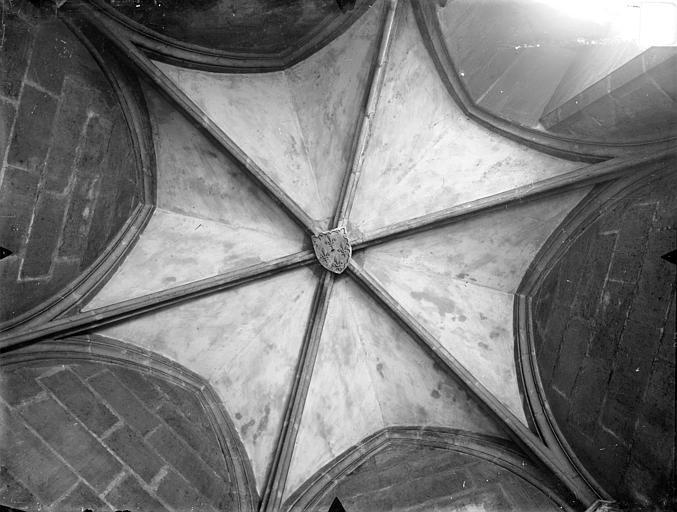 Palais des Comtes de Poitiers (ancien) ; Palais de Justice Tour Maubergeon : voûte d'une tourelle, Gossin (photographe),