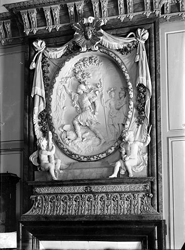 Palais des Ducs et des Etats de Bourgogne (ancien) ; Hôtel-de-Ville Haut-relief : La conquête de la Toison d'or, Gossin (photographe),