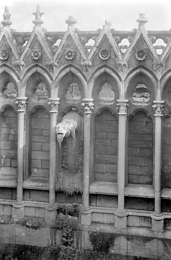 Cathédrale Notre-Dame Façade sud : Arcatures de la galerie supérieure et gargouille, Sainsaulieu, Max (photographe),
