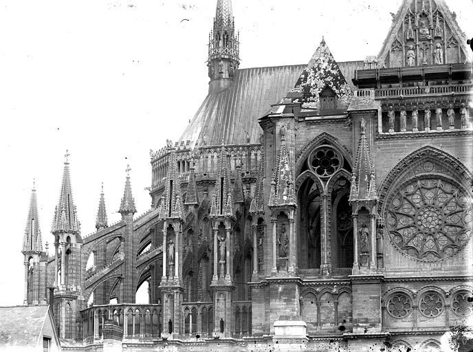 Cathédrale Notre-Dame Abside, côté nord, en largeur, Lajoie, Abel,