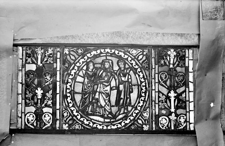 Eglise Saint-Gengoult Vitrail de l'abside, lancette de droite, panneau 29, Romanais (photographe),